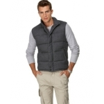 Flannel Puffer Vest by DKNY