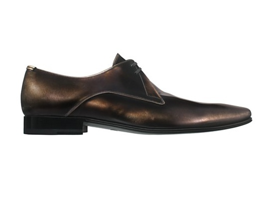 Dior Homme Gold Patina Lace Up Shoes